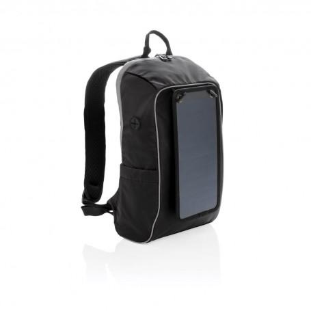 Solar panel power hiking backpack PVC free