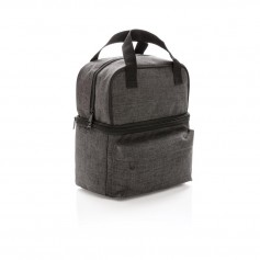 Cooler bag with 2 insulated compartments