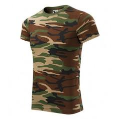 Reklaminiai kamufliažiniai marškinėliai CAMOUFLAGE GREEN/BROWN su logotipu
