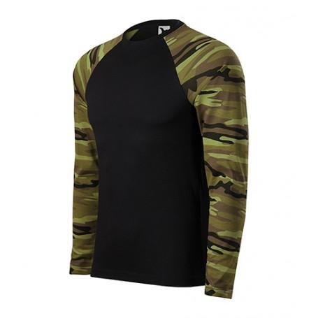 Reklaminiai kamufliažiniai marškinėliai CAMOUFLAGE GREEN ilgomis rankovėmis