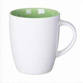 """Keramikinis puodelis su spalvotu vidumi ir logotipu """"SPEC"""""""