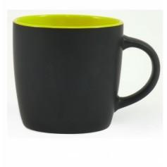 """Juodas reklaminis puodelis su užrašu """"DURAN"""""""