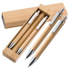 """Bambukinių tušinukų rinkinys su Jūsų logotipu """"PRINC"""""""