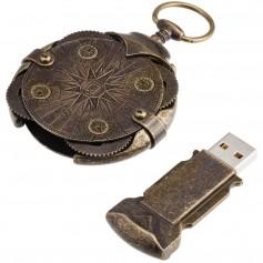"""Apvalus užrakto kompasas, su USB atmintuku """"ANTQUE"""""""