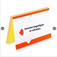 Užrašų lapeliai su Jūsų logotipu