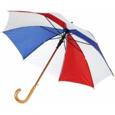 """Įvairių spalvų reklaminis skėtis su logotipu """"PAINT"""""""