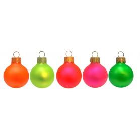 Kalėdiniai fluoresceniniai žaisliukai su spauda FLO