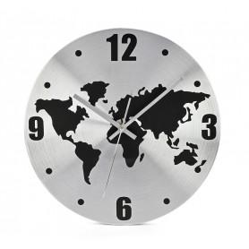 Sieninis laikrodis su pasaulio žemėlapiu WORLD