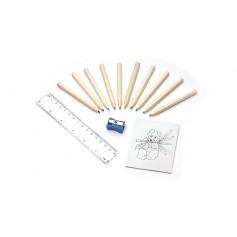 Spalvotų pieštukų rinkinys su knygele ART