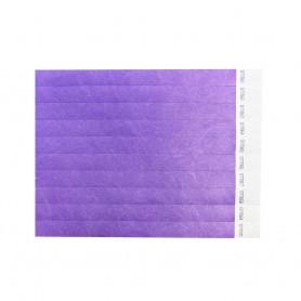 Violetinės renginių juostelės su užrašu
