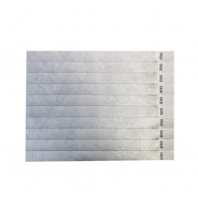 Sidabrinės kontrolinės popierinės apyrankės