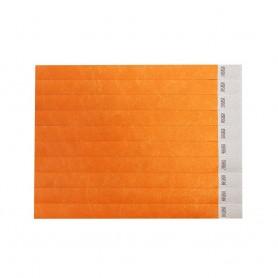 Oranžinės renginių apyrankės su logotipu