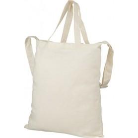 Medvilniniai reklaminiai maišeliai su reguliuojama rankena 100g/m2