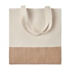 Reklaminiai medžiaginiai maišeliai su džiuto apdaila 160g/m2