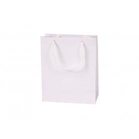 Reklaminiai balti laminuoti maži maišeiai 150g/m2