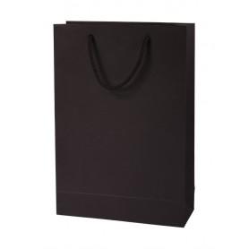 Juodi reklaminiai dovanų maišeliai su spauda 250g/m2