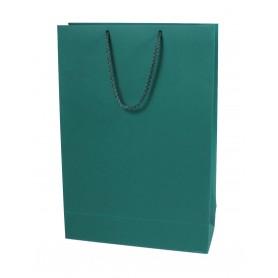 Žali reklaminiai popieriniai maišeliai su logotipu 250g/m2