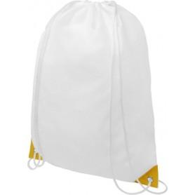 Balti reklaminiai sportiniai maišeliai su spauda