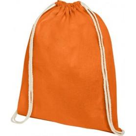 Reklaminiai medvilniniai sportiniai maišeliai su spauda 140g/m2