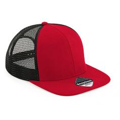 Reklaminės 6 segmentų kepurėlės su tinkleliu