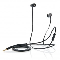 Flat wire earbuds with mic