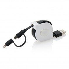 Retractable 2-in-1 cable MFi licensed