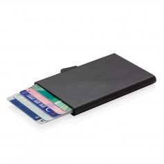 C-Secure aluminium RFID card holder