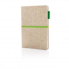 A5 Eco jute cotton notebook