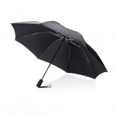"Swiss Peak 23"" foldable reversible auto open/close umbrella"