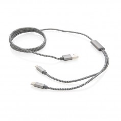3-in-1 braided cable